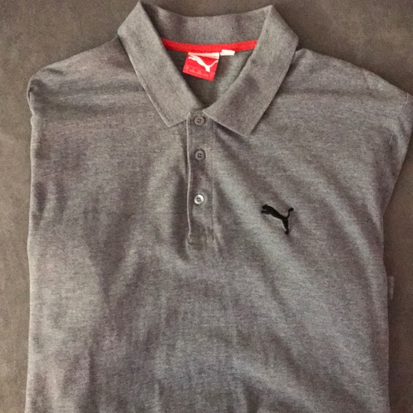 f2dd68e9 Puma Shirts   Mens Sport Lifestyle Gray Polo L   Poshmark